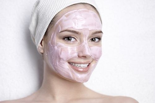 Woman Wearing Facial Mask